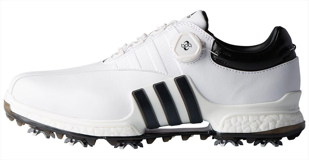 Adidas Tour 360 Eqt Boa Golf Shoes White Black On Sale Carl S Golfland