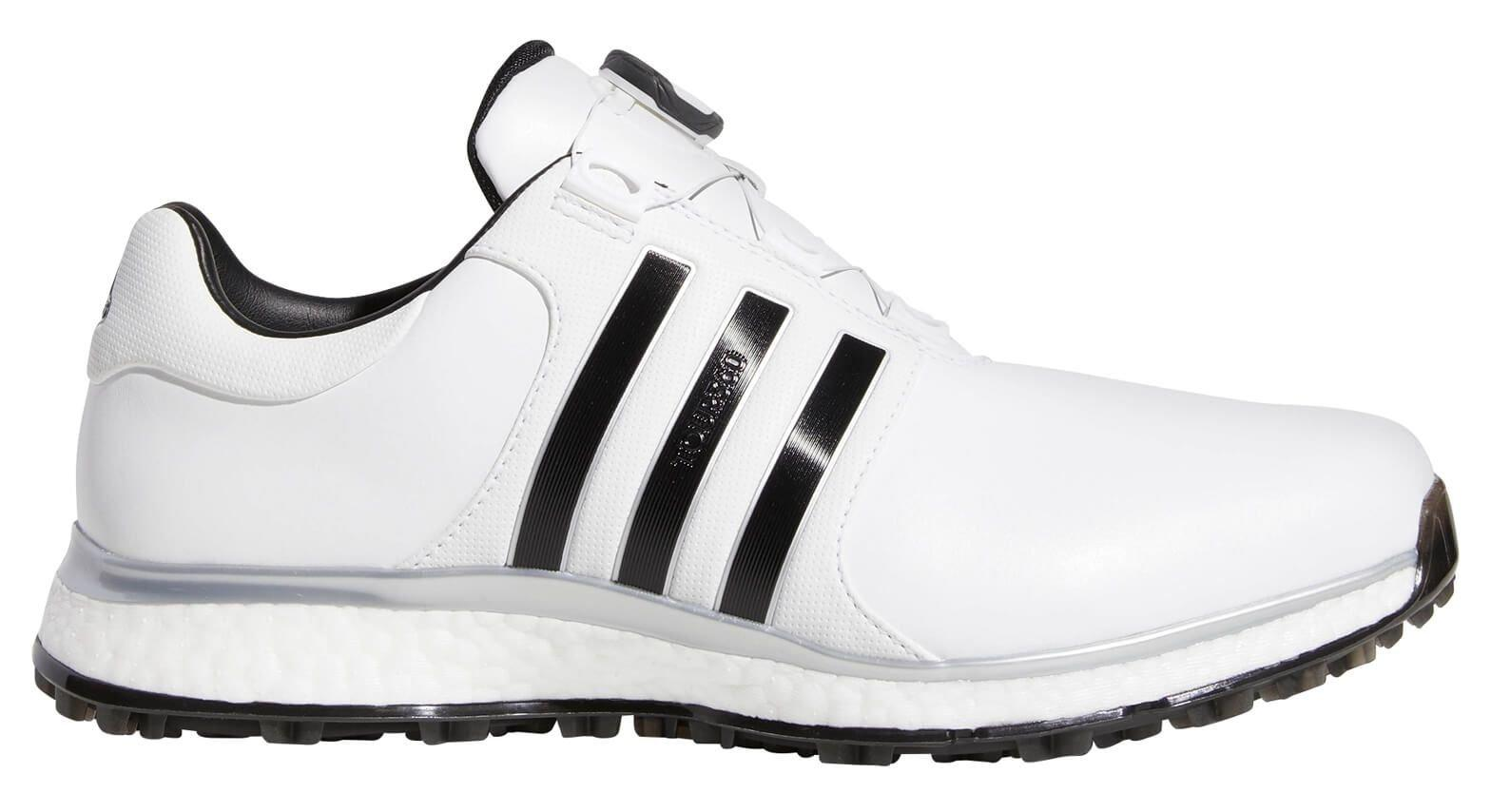 Cuervo Óptima orientación  Adidas Tour 360 XT Spikeless BOA Golf Shoes White/Black/Silver - Carl's  Golfland