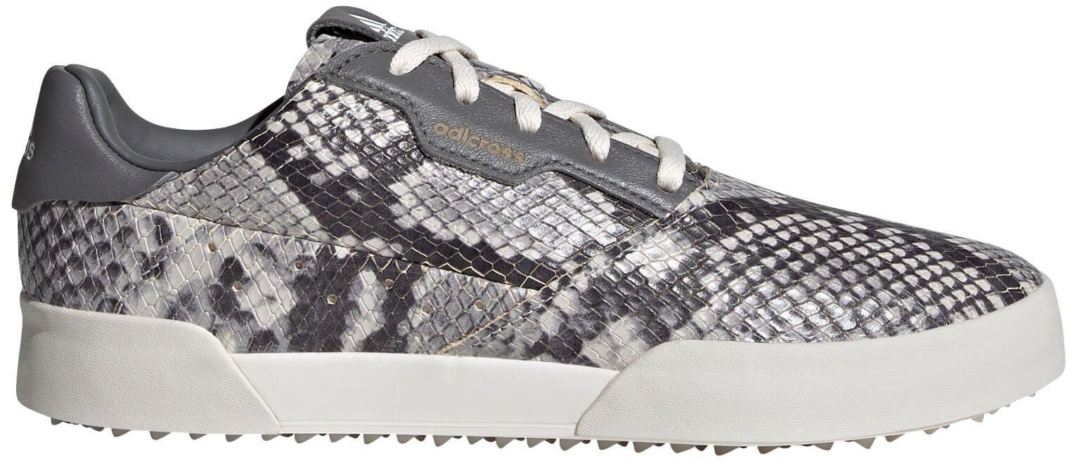 adidas Womens Adicross Retro Spikeless Golf Shoes 2021 - White/Grey/White