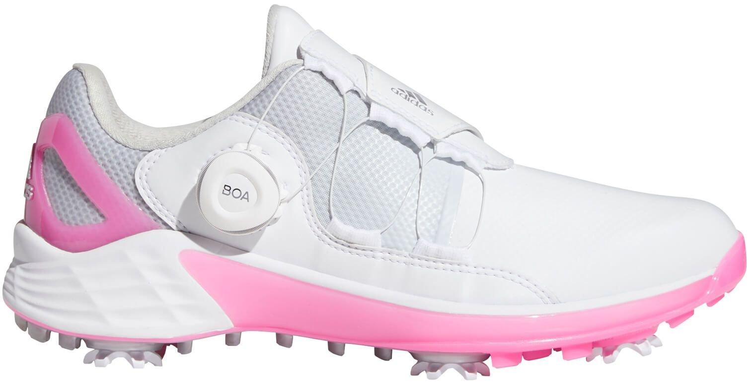 adidas Womens ZG21 Boa Golf Shoes 2021 - White/Silver Metallic/Screaming Pink