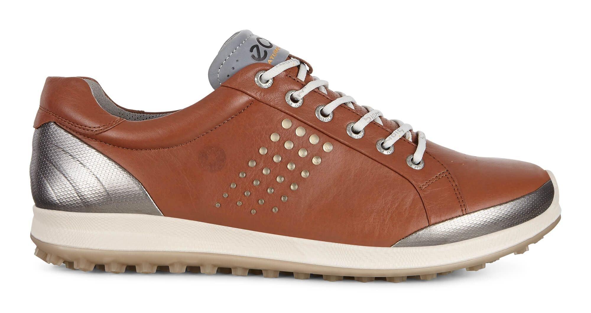 Ecco Biom Hybrid 2 Golf Shoes Mahogany Oyster On Sale Carl S Golfland