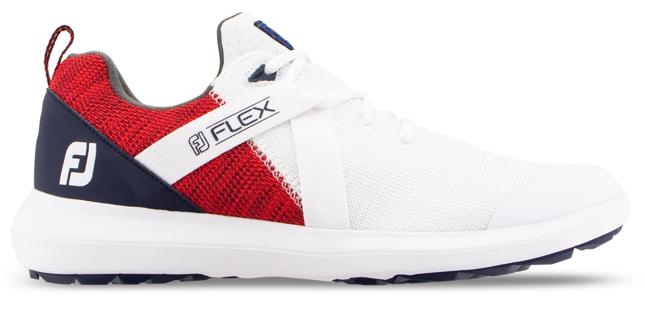 FootJoy Flex Golf Shoes - Red/White/Blue 56104