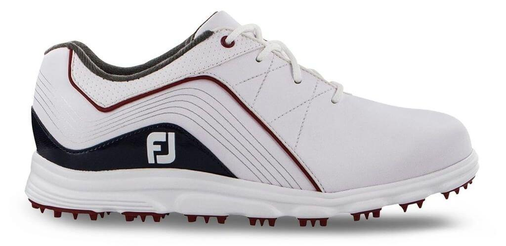 Footjoy Junior Pro Sl Spikeless Golf Shoes White Blue 45028 Carl S Golfland
