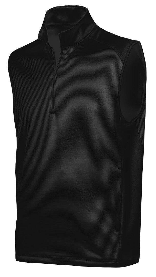 Greg Norman mens 1//4-zip Stripe Fleece Vest