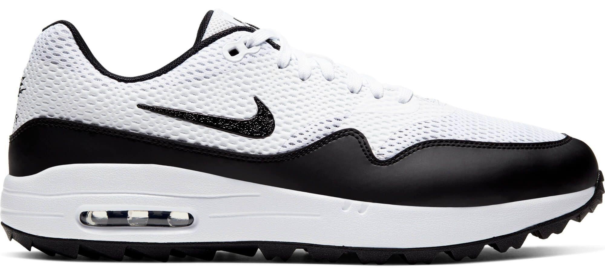 Nike Air Max 1 G Golf Shoes 2020 White Black Carl S Golfland