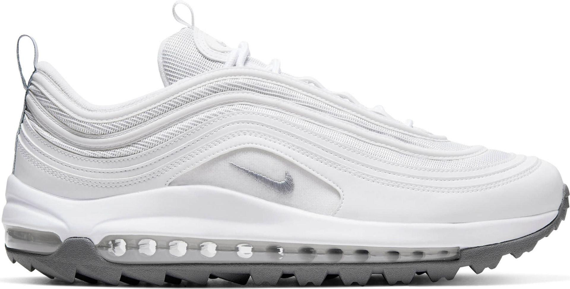 Nike Air Max 97 G Golf Shoes 2020 White Metallic Cool Grey White