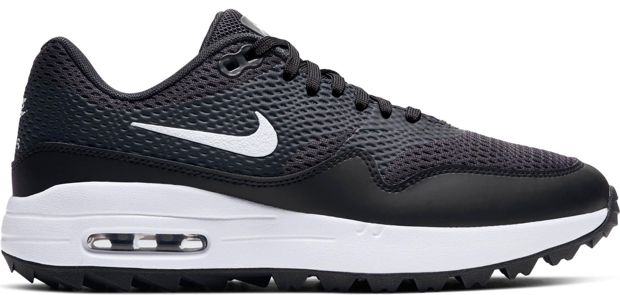 muerte Desmenuzar Además  Nike Women's Air Max 1 G Golf Shoes Black/White/Anthracite - Carl's Golfland