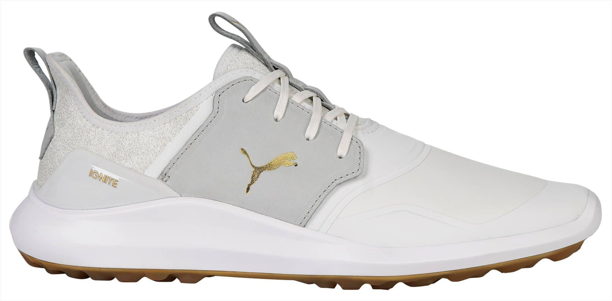 Puma Ignite Nxt Crafted Golf Shoes 2020 White High Rise Team Gold Carl S Golfland
