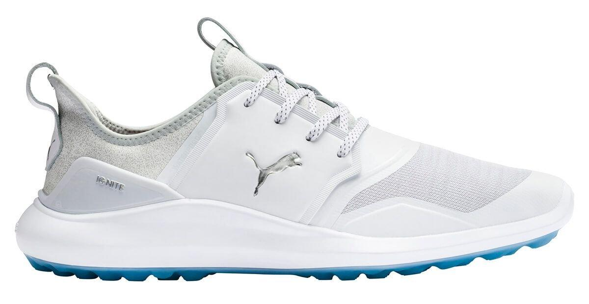 Puma Ignite Nxt Lace Golf Shoes 2020 White Silver High Rise Carl S Golfland