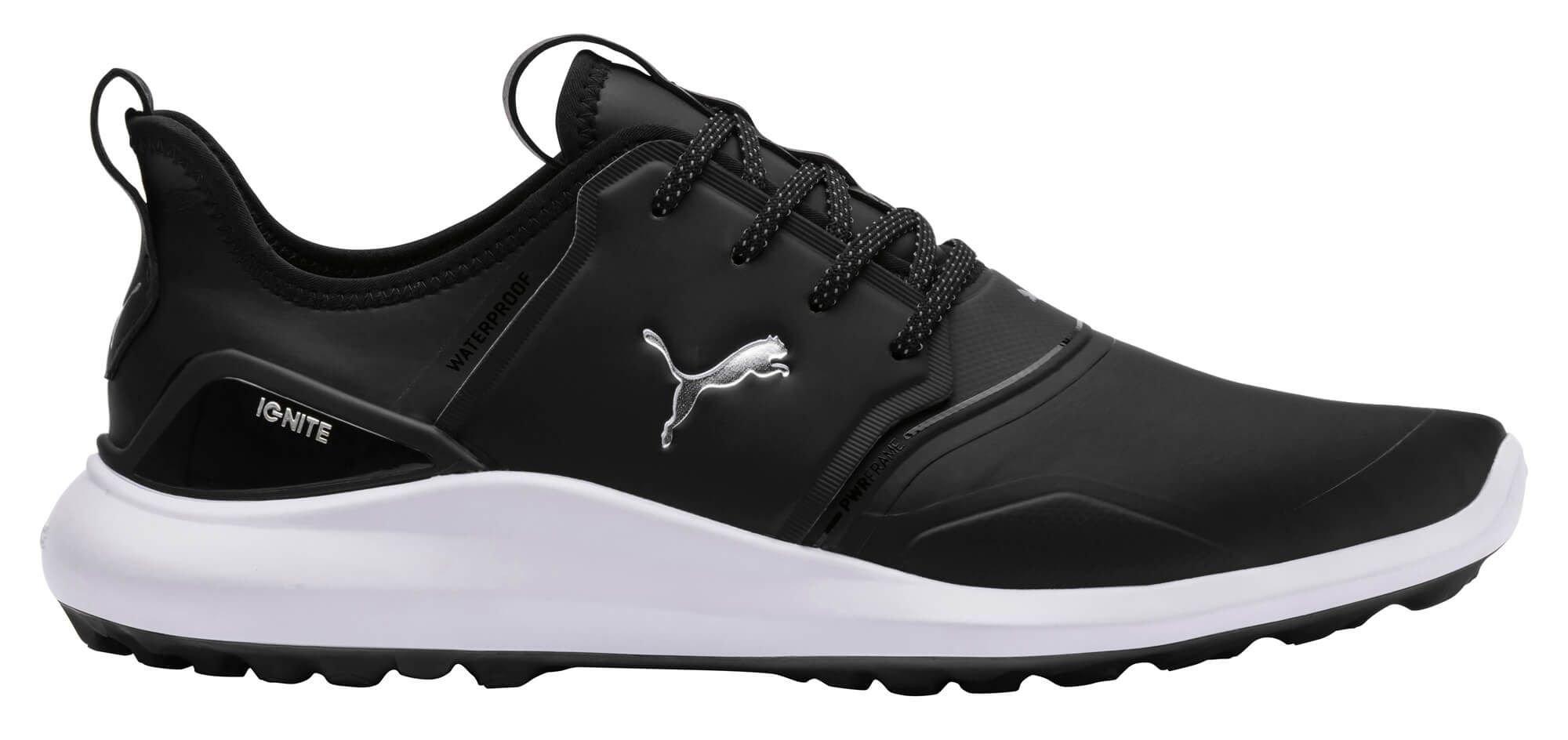 Puma Ignite Nxt Pro Golf Shoes Black Silver White Carl S Golfland