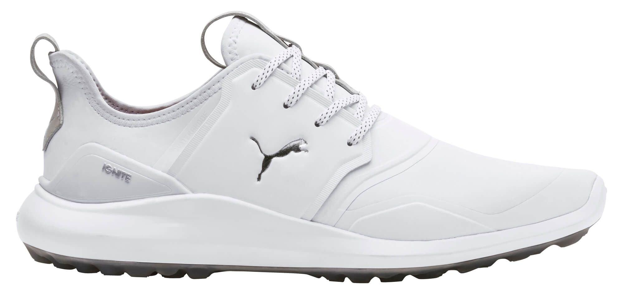 Puma Ignite Nxt Pro Golf Shoes White Silver Gray Violet Carl S Golfland