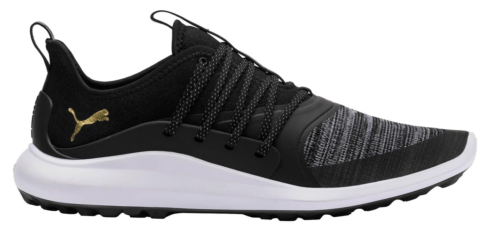 Puma Ignite Nxt Solelace Golf Shoes Black Team Gold Carl S Golfland