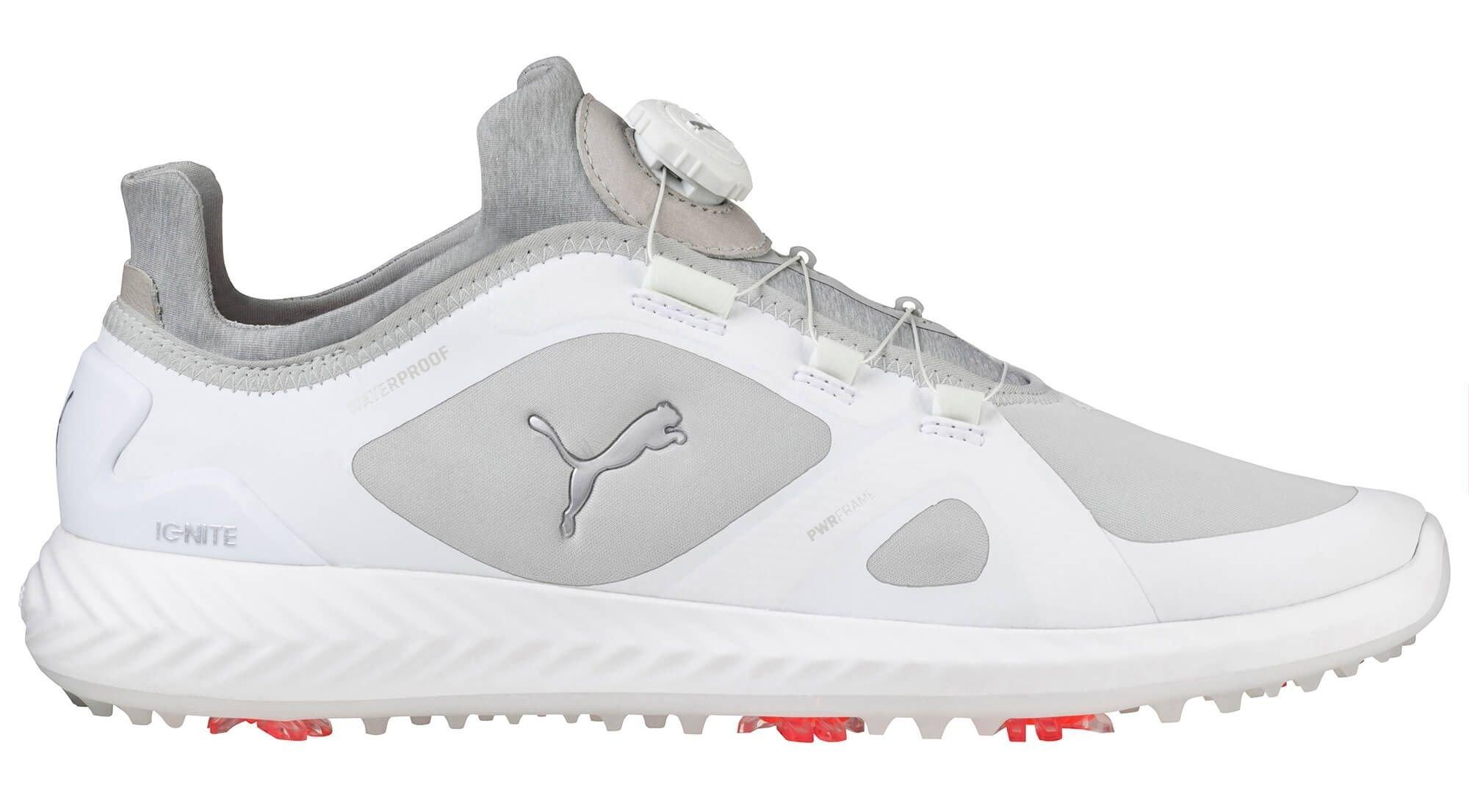 Puma Ignite Pwradapt Disc Golf Shoes White Grey On Sale Carl S Golfland