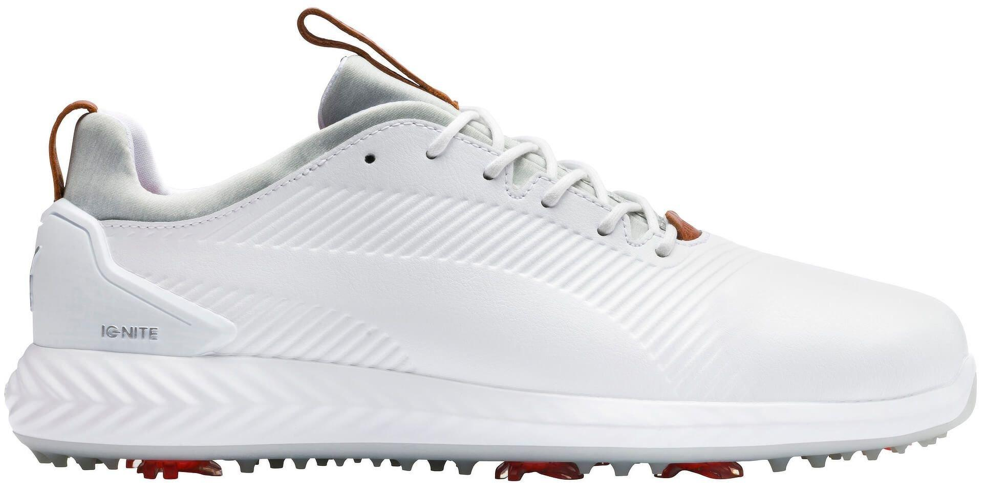 Puma Ignite Pwradapt Leather 2 0 Golf Shoes 2020 White White Carl S Golfland