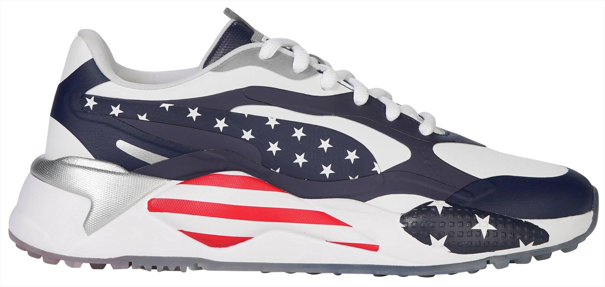 Puma Rs G Usa Golf Shoes 2020 White Peacoat Red Carl S Golfland