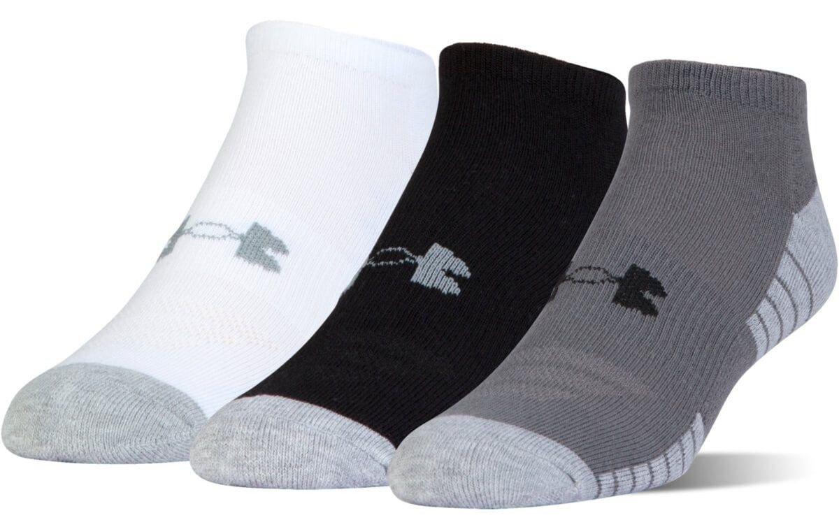 Under Armour Youth Heatgear Tech No Show Socks 3-Pairs