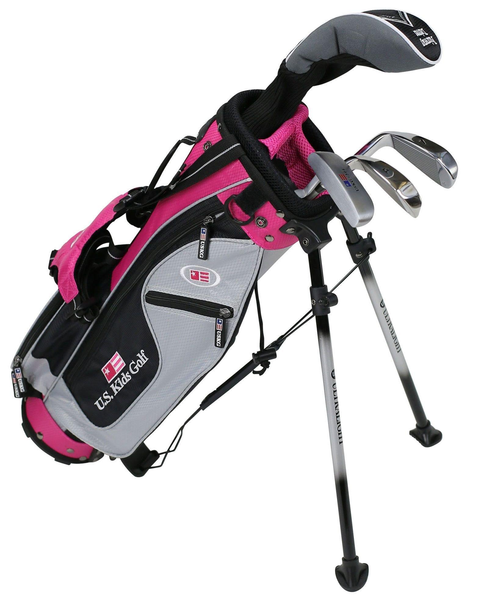 Us Kids Ul 42 Pink Girls Junior 4 Club Golf Set Carl S Golfland