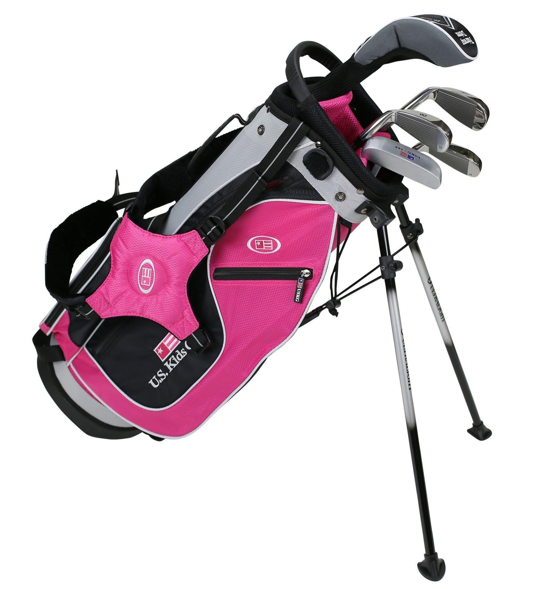 Us Kids Ultralight 48 Pink Girls Junior 5 Club Golf Set Carl S Golfland